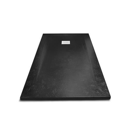 <p>Base Chuveiro Rock</p><p>Base chuveiro com 3 cm de espessura, em material compósito constituído por resina de poliéster combinada com cargas minerais e superfície em gel coat. Com acabamento texturado semelhante ao da pedra natural.  Disponível em branco, antracite e negro e em vários tamanhos. Possibilidade de cortar á medida  </p>