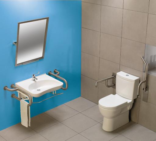 <p>Mobil-Sanitana</p><p>Sanita e Lavatório Mobil (Sanitana)  Sanitários adaptados para pessoas com dificuldades motoras.  Sanita com altura superior ao normal para facilitar o sentar.  </p>