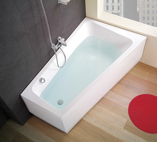 <p>Banheira Nexo</p><p>Banheira Assimétrica Nexo em chapa acrílica sanitária  Disponível com tamanho de 160x100 (esquerda ou direita) e com painéis em várias cores (em madeira ou ACM) com ou sem hidromassagem  </p>
